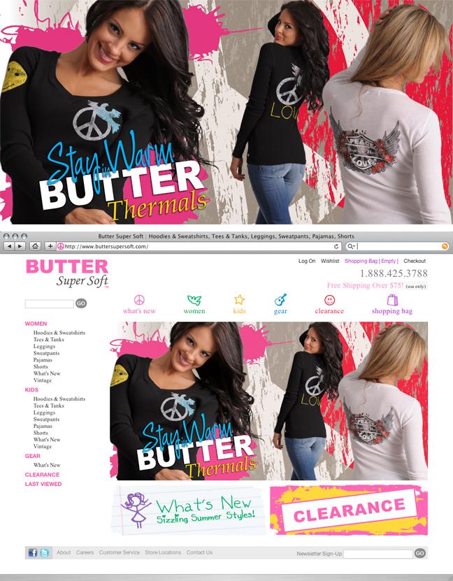 Butter Super Soft Homepage Banner