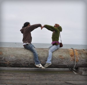 Tarun and Stephanie in California Love